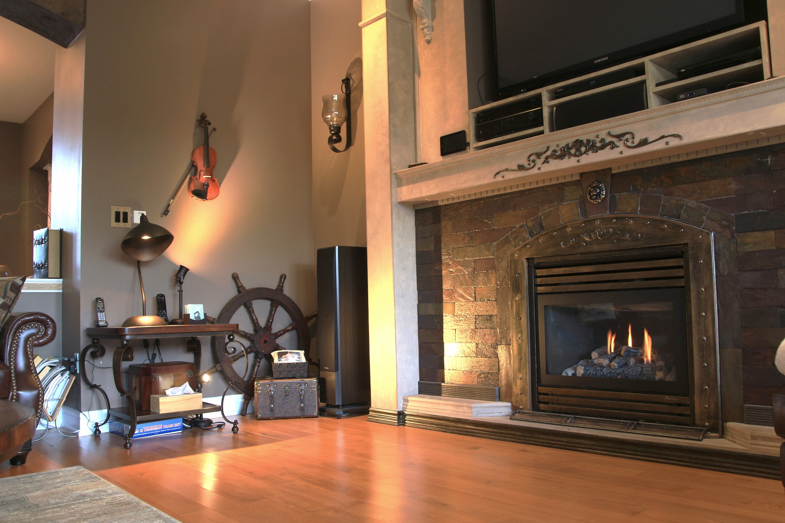 Indoor Fireplace with TV screen