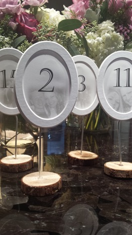 Custom Table Numbers, by Meg Glasgow