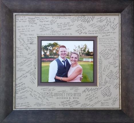 "Custom Framed Wedding ""Signature"" Mat, by Meg Glasgow"