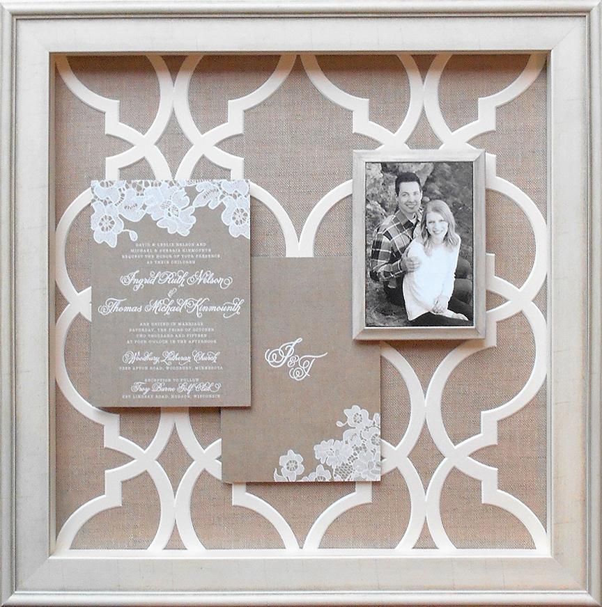 Lattice Cut Wedding Mat Design, by Meg Glasgow
