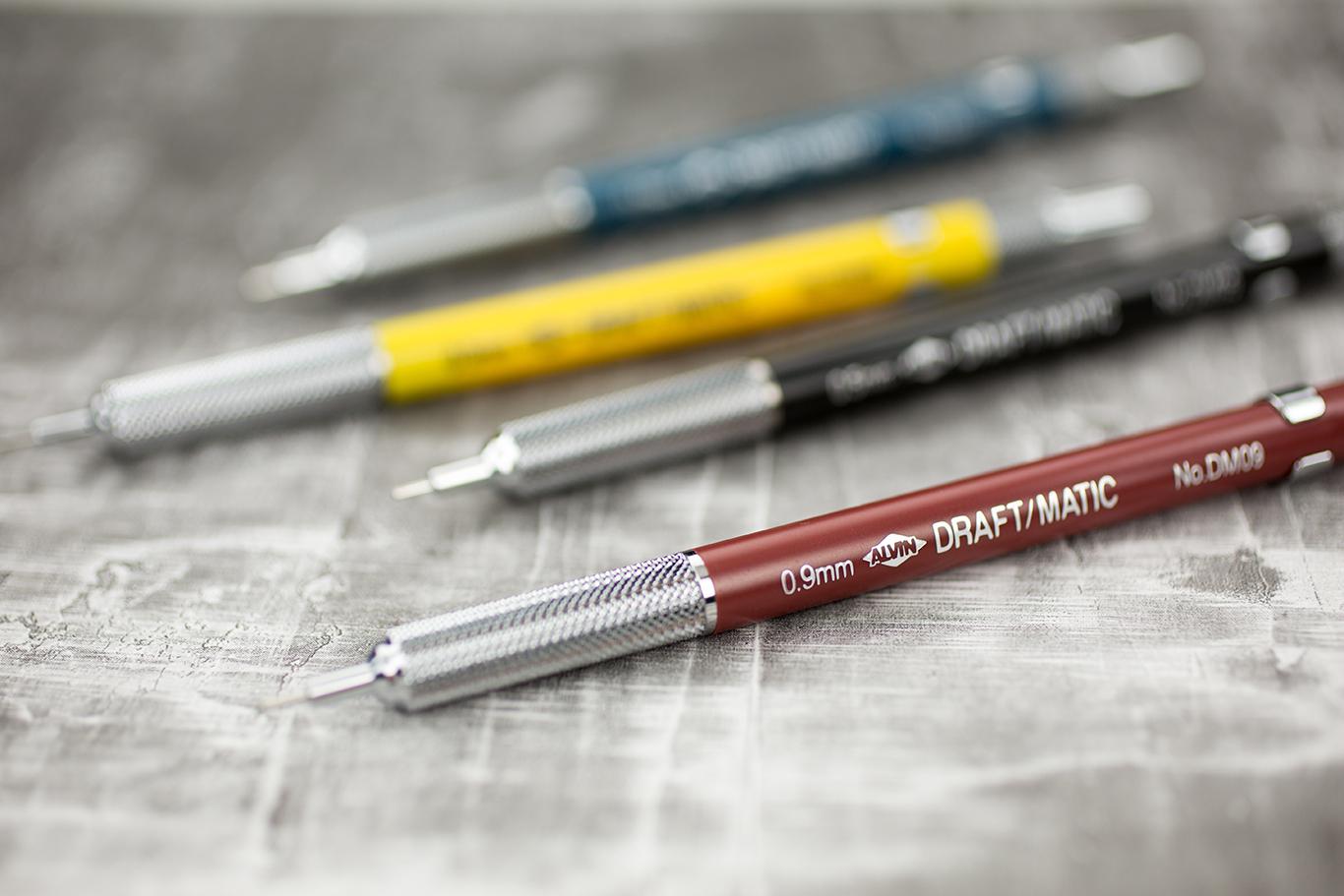 Alvin® Draft-Matic Mechanical Pencils Item No. DM03 DM05 DM07 & DM09