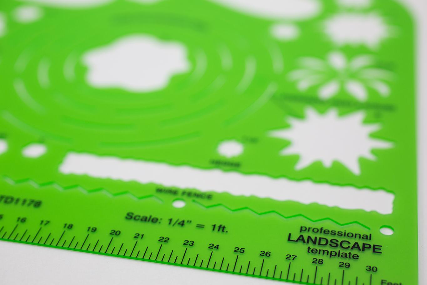 Alvin® Landscape Design Template Item No. TD5351