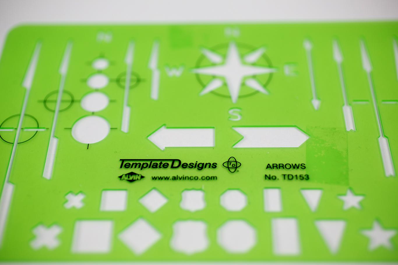 Alvin® Designs Arrows Template Item No. TD153