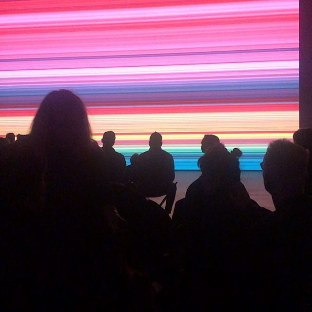 @theshedny #gerhardrichter #digitalart #algorithm process@applied to his 2016 abstract painting 946-3. In collaboration with #corinnabelz and music by Steve Reich and Alvo Part. #sublime evening #performance #collaboration and the #movingimage #mustsee #hudsonyards