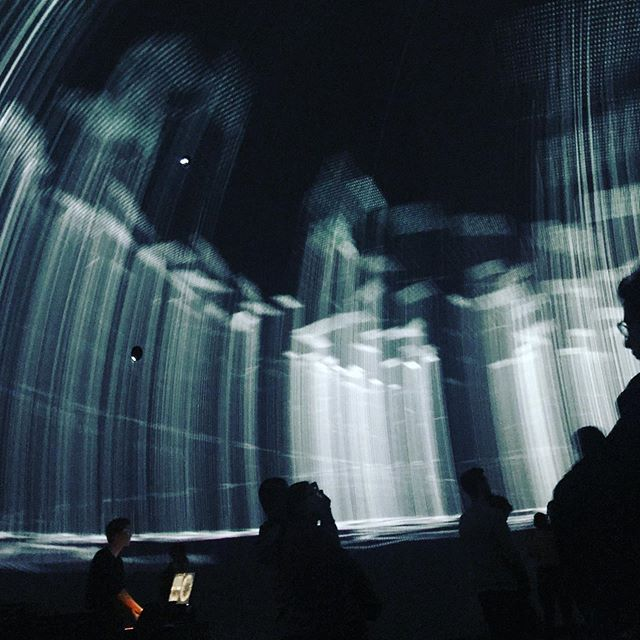 "Monocolor, Marian Essi @elektra_bian #digitalartfestival #montreal #canada ""Latent Space"" #generative #algorithmically #performance @satosphere #immersivemedia theater, spherical projection screen 360 degrees, 8 video projectors, society of arts and technology #viennabasedartist"