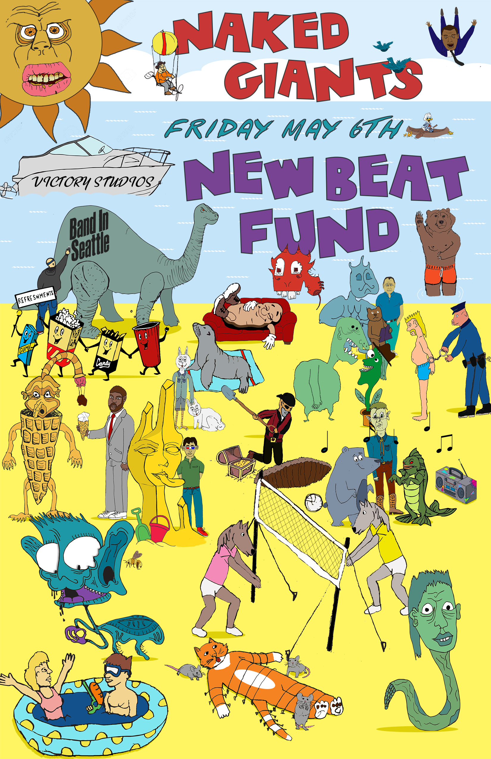 Naked Giants and New Beat Fund Poster