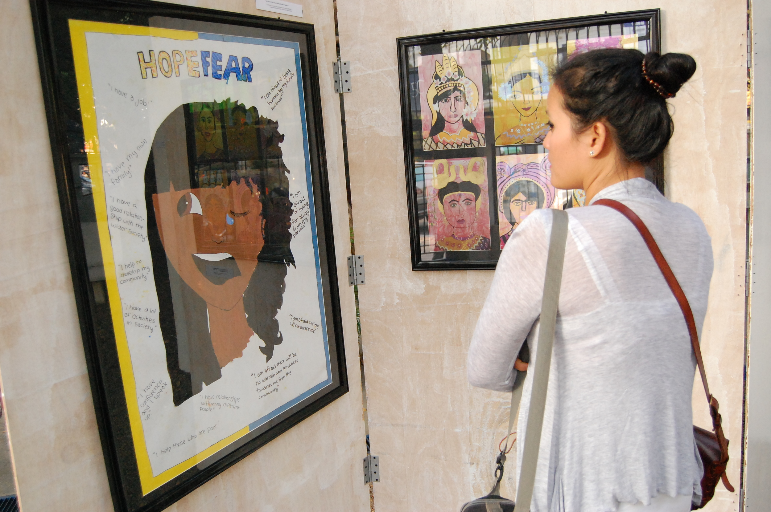 """In April 2011 Chab Dai & The Asia Foundation co-hosted the International Women's Day Event called """"A New Life, A New Hope"""". Member's artwork about """"freedom"""" was displayed."""