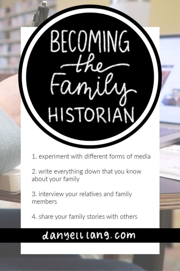 become the family historian