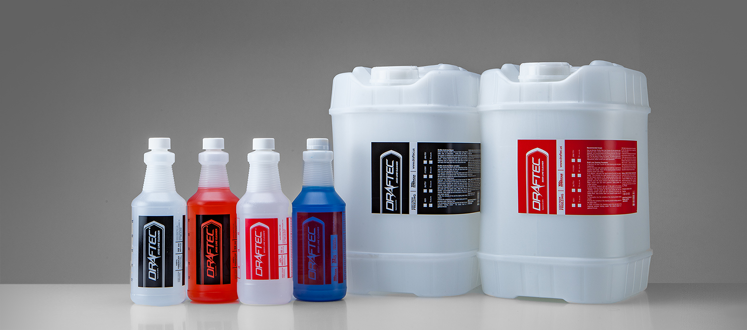 Draftec's proprietary beer line cleaner and acid line cleaner additive package