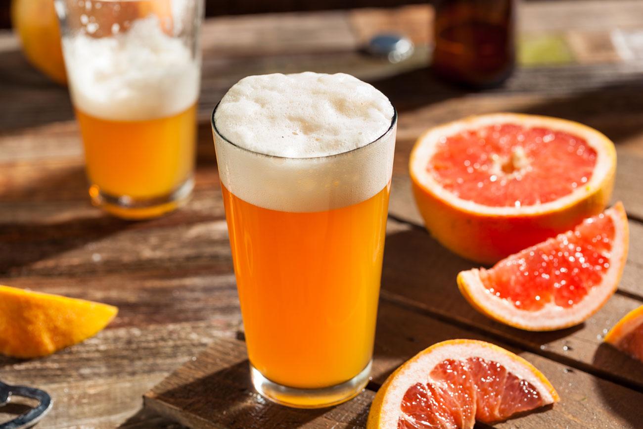 Beer with grapefruit