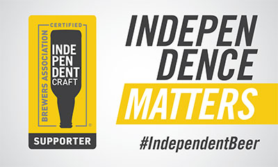 Independence matters. We support Independent beer