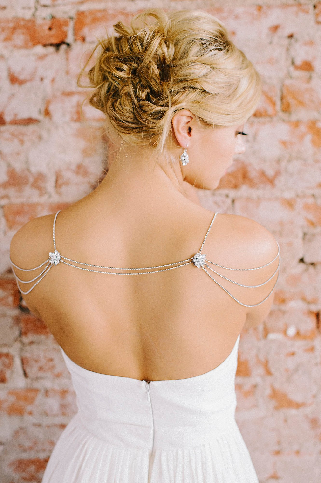 "The ""Josephine"" necklace is an incredible addition to any strapless dress!"