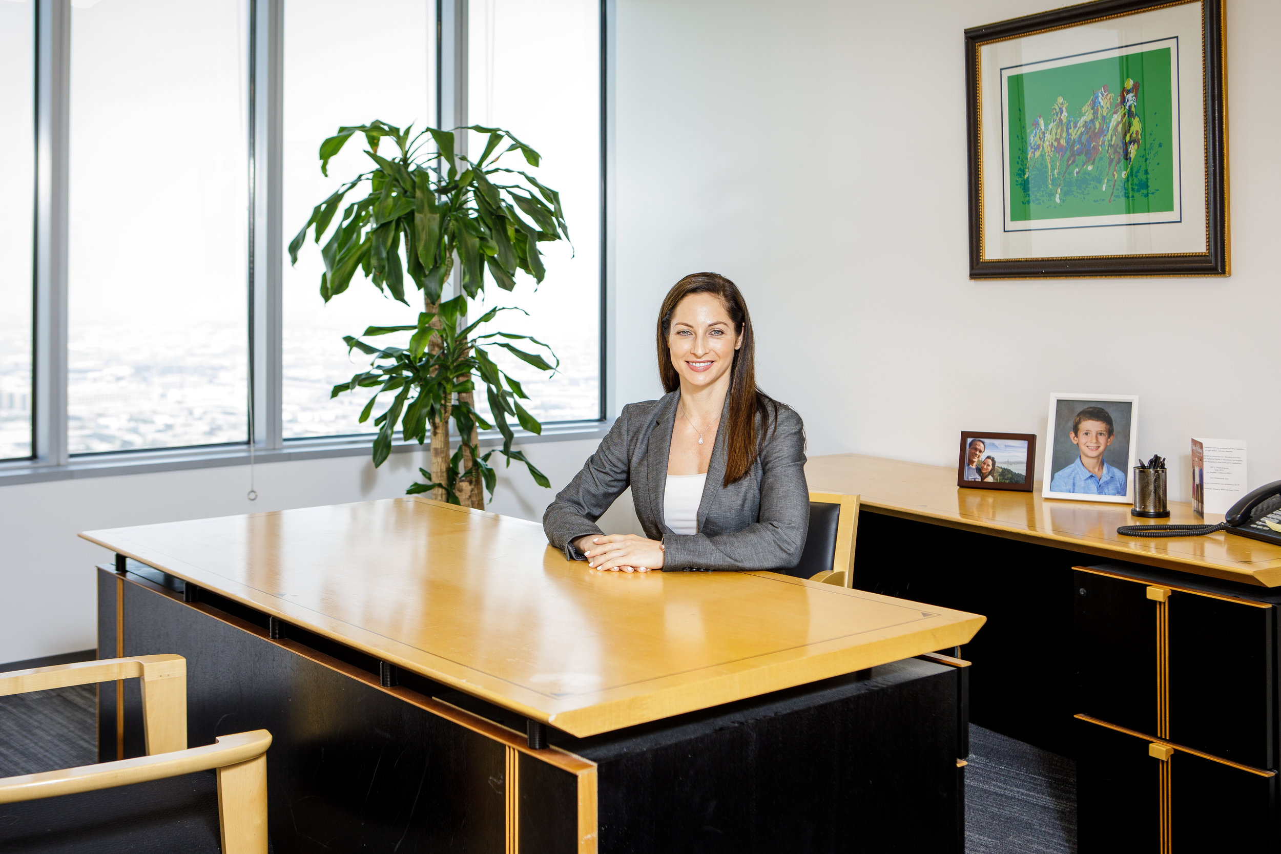 Kim In Her Office