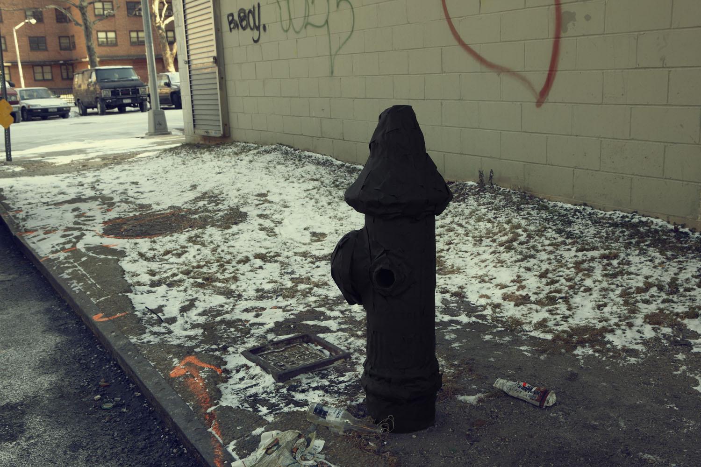 Silhouette / Urban Intervention (Black Tape) - Fire Hydrant