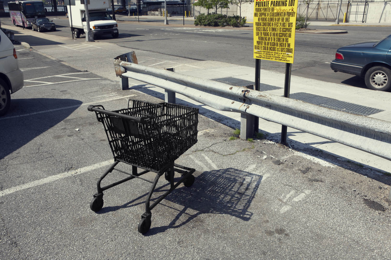 Silhouette / Urban Intervention (Black Tape) - Shopping Cart