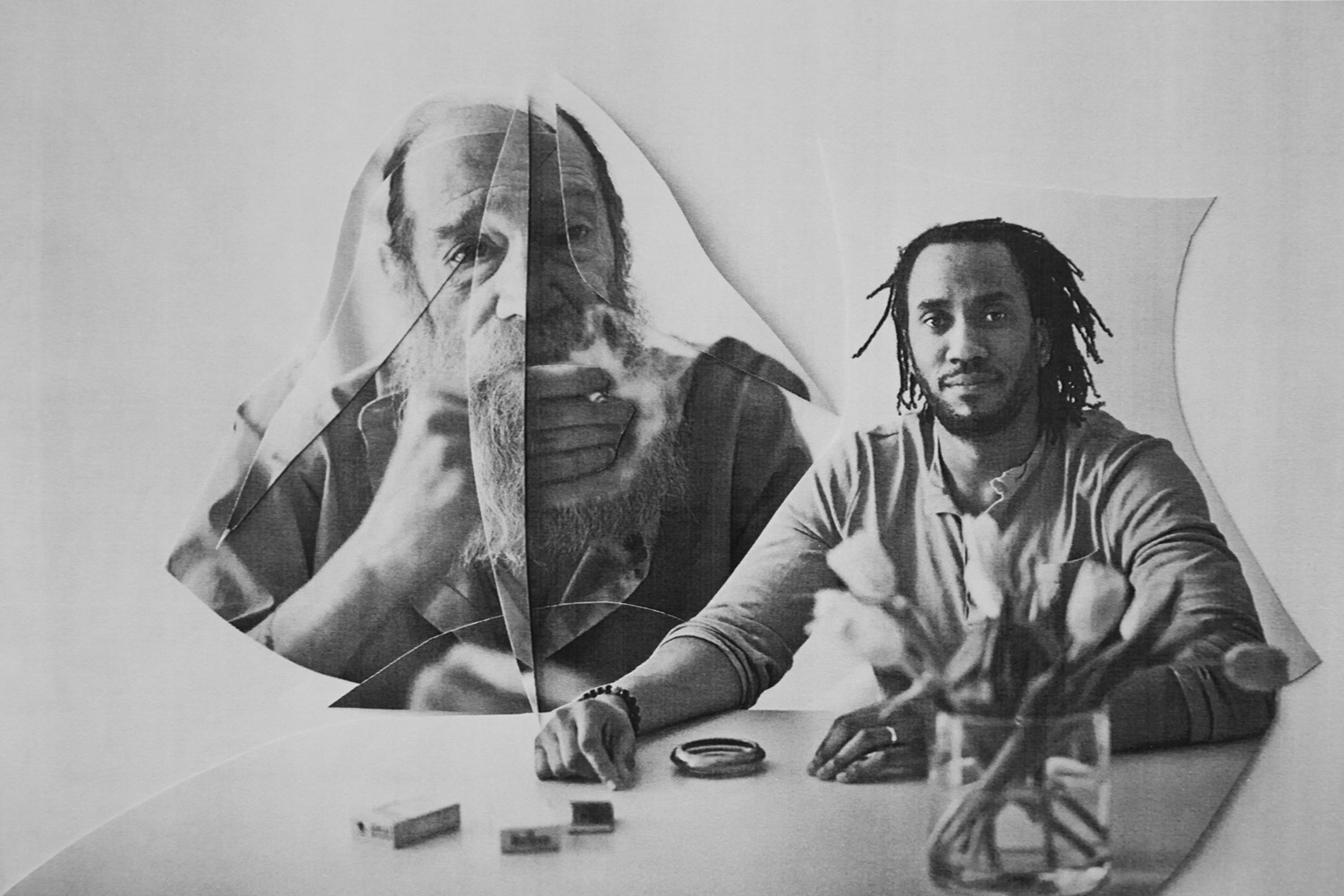 Lawrence Weiner and Rashid Johnson for Neue Journal