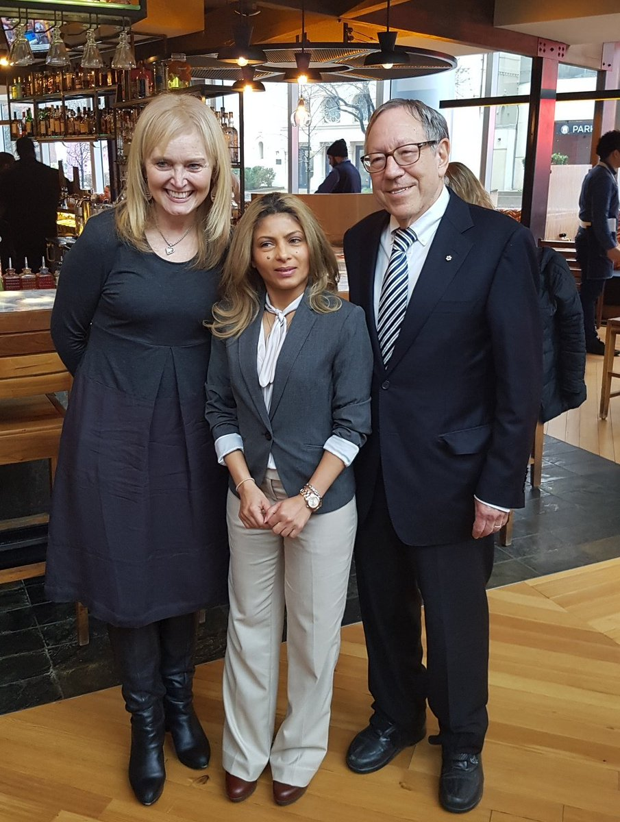"February, 2019, Washington, DC. Katrina Lantos Swett meets with Ensaf and Irwin Cotler. ""It was such a privilege to meet with Ensaf- she is a courageous advocate not only for her husband Raif, but for basic human rights for all!"""