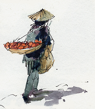 Man with produce