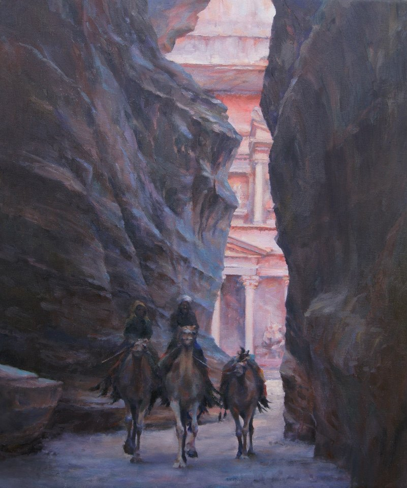 Entering the Lost City of Petra, Morocco