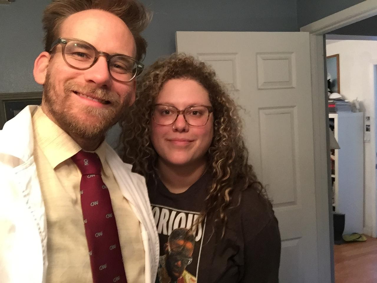 Filmmakers Jason Underhill & Rena Kosnett filming  Golden Retriever: The Possession