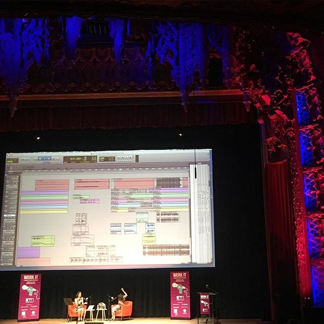 First day of #Werkit women's podcasting festival at The Ace Theater! Beautiful audio files, beautiful place, beautiful ladies. #womenpodcasters