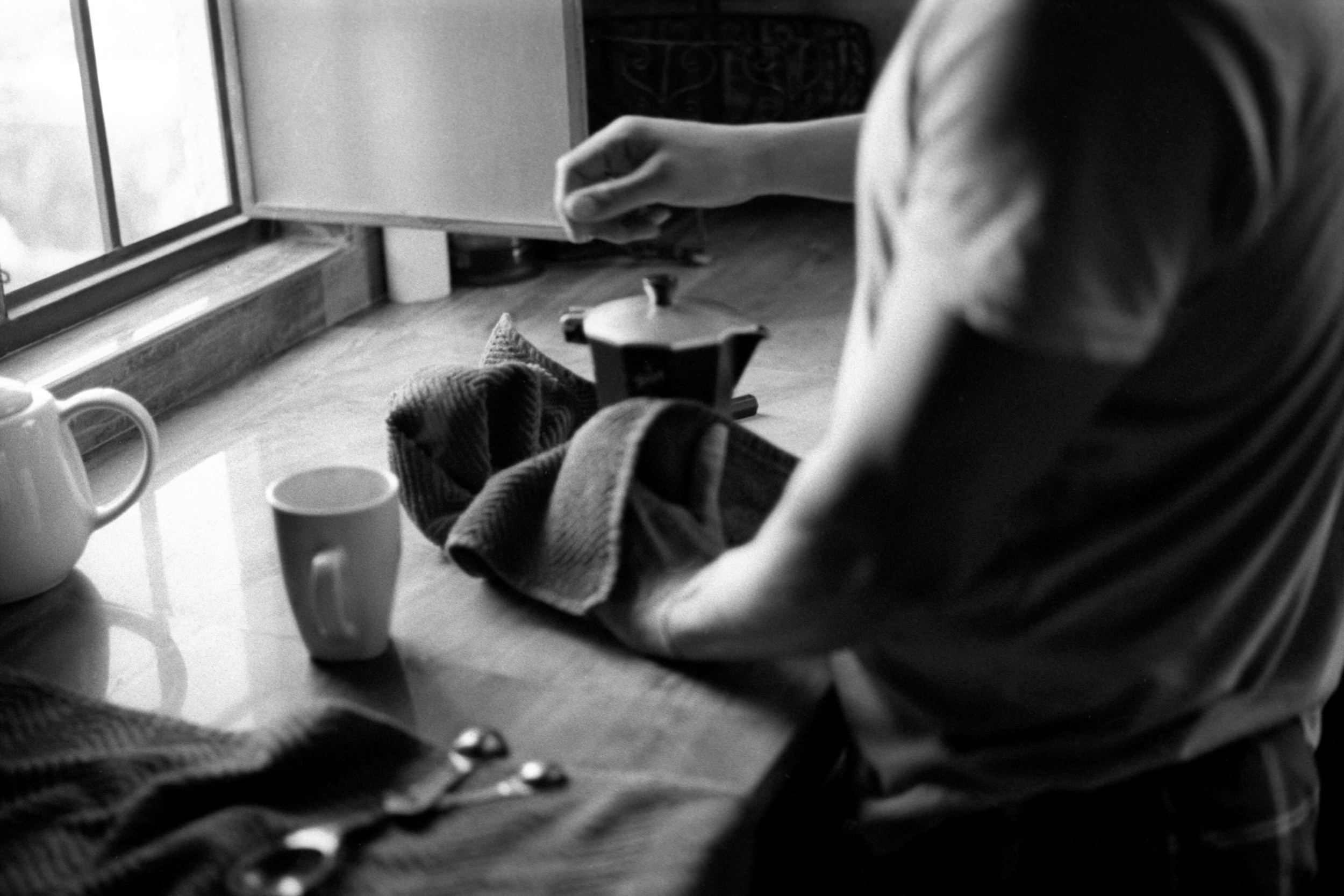 Moments like these.  Leica M6 + Tri-X 400, developed and scanned at home.