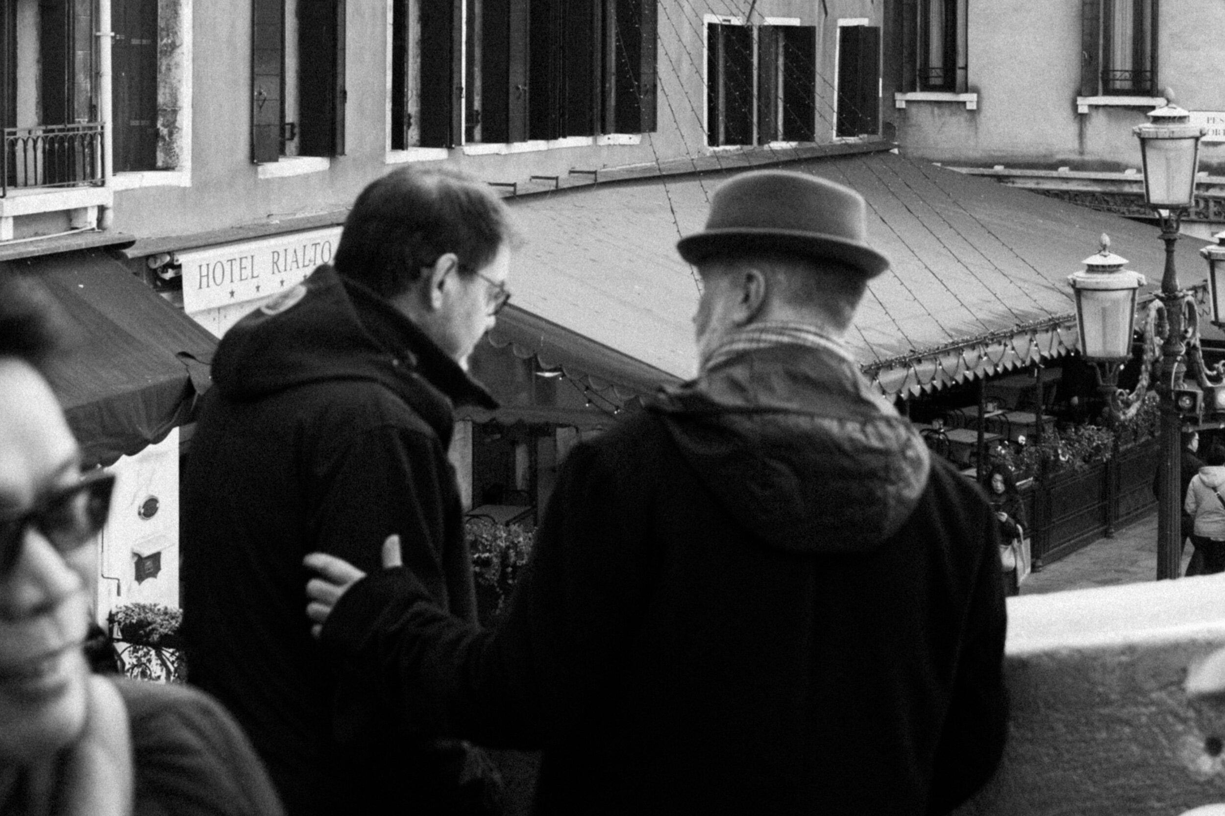 The speaker.  Venice, 2017.  Leica Q.