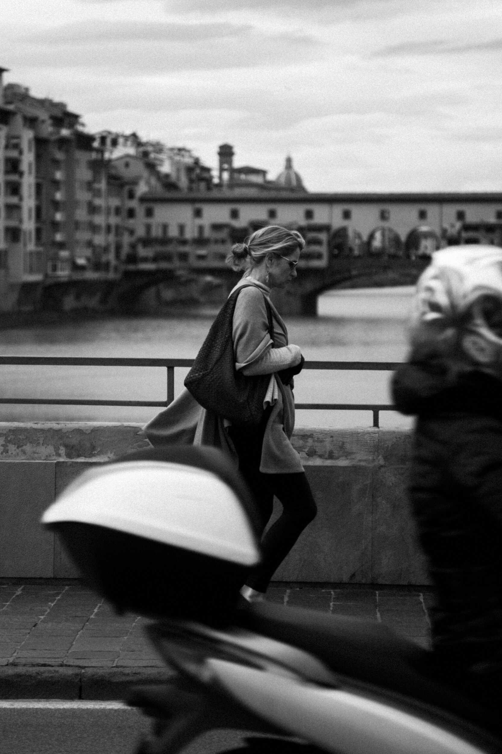 We walk our memories,  we carry our past on.  Florence, 2017.