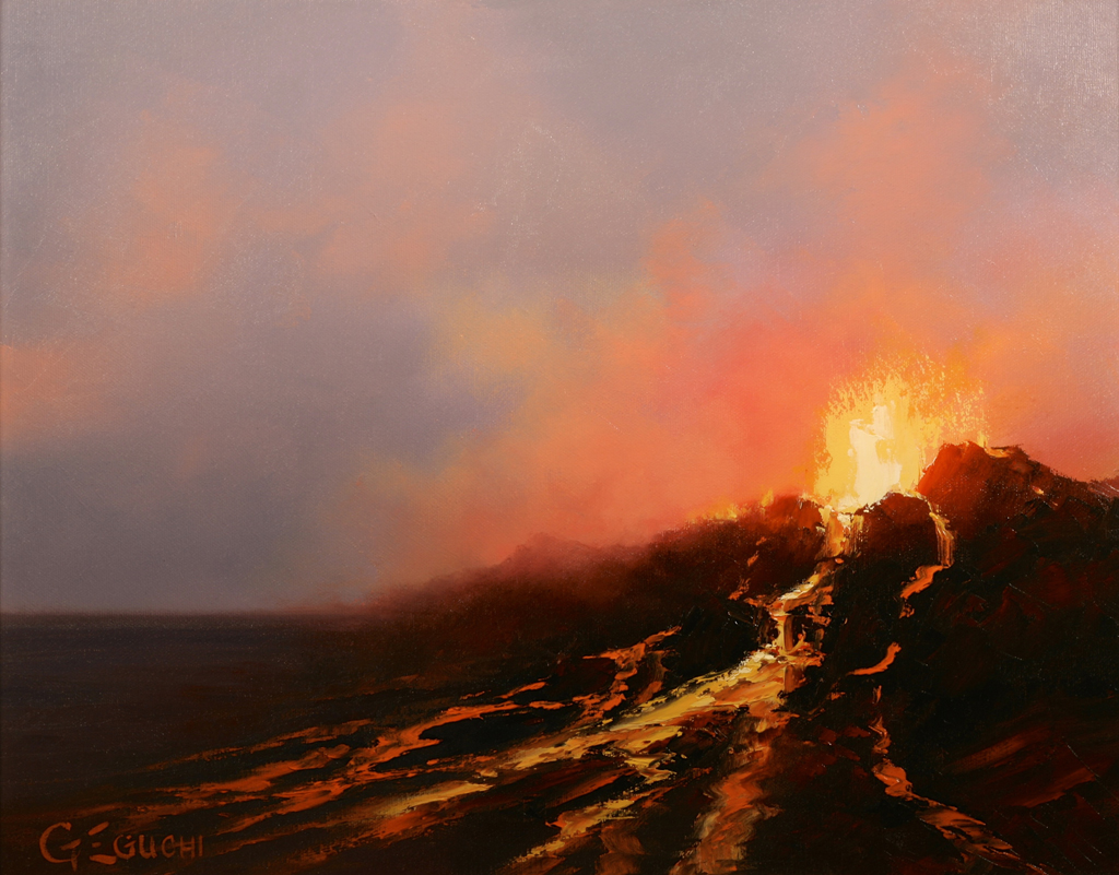 ERUPTION AT TWILIGHT