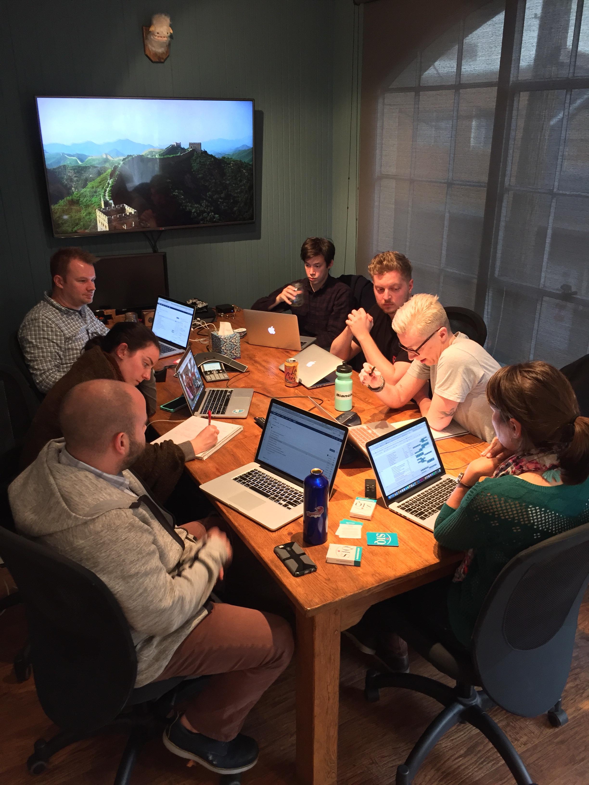war-room. client meeting.