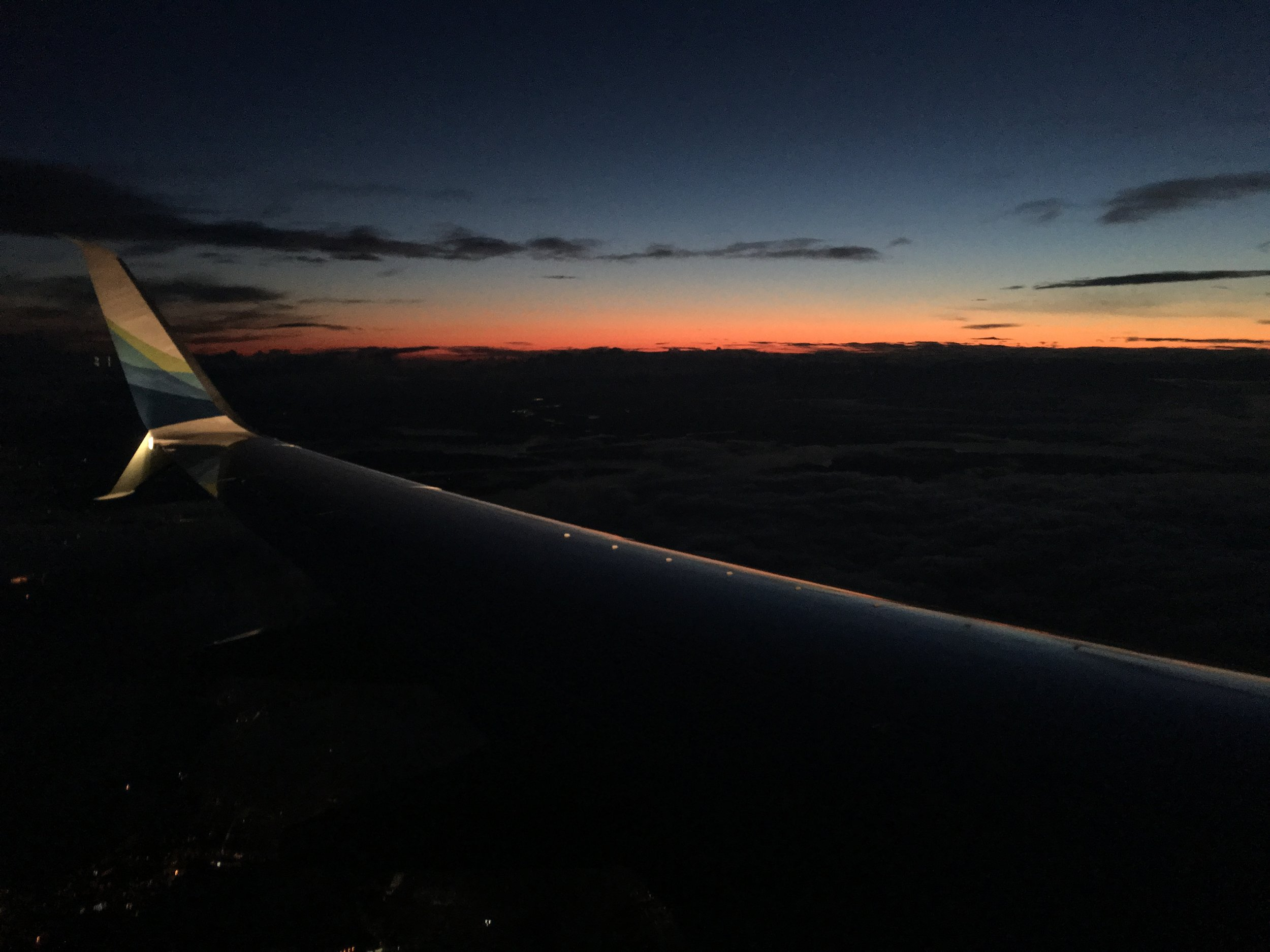 Funny thing about flying from Santa Monica to Seattle in summer. You chase the sunset the whole way.