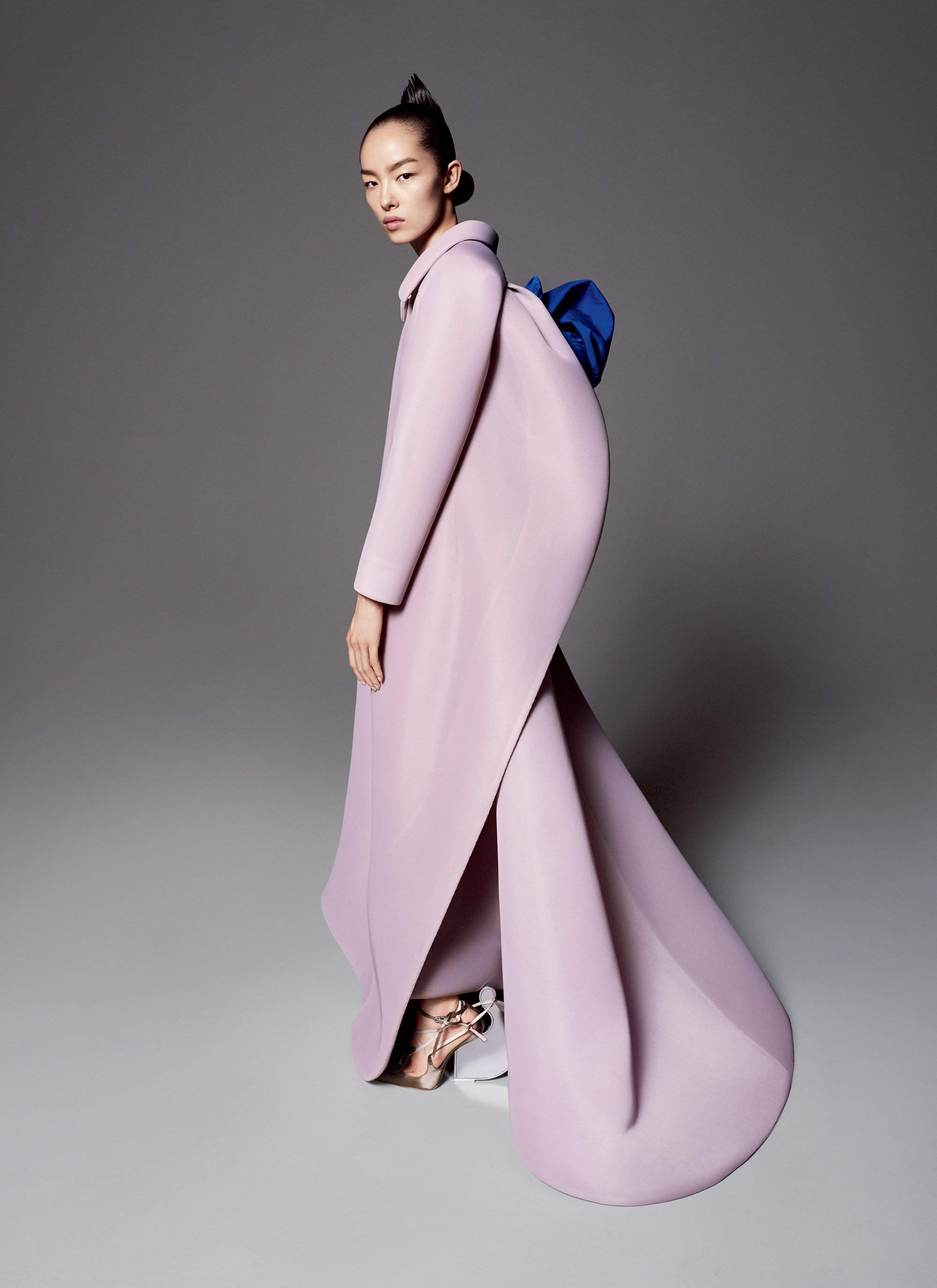 "Model Fe Fei Sun wears a Maison Margiela ""Artisanal"" designed by John Galliano - Image courtesy of Vogue 2015."