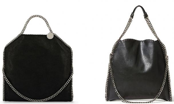 Left: Stella McCartney's Falabella bag Right: Steve Madden's BTotally bag