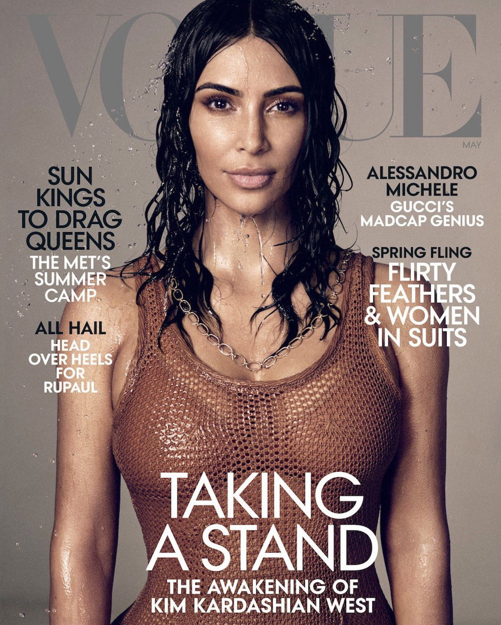 Kim Kardashian West Credit: @Vogue @MikaelJansson