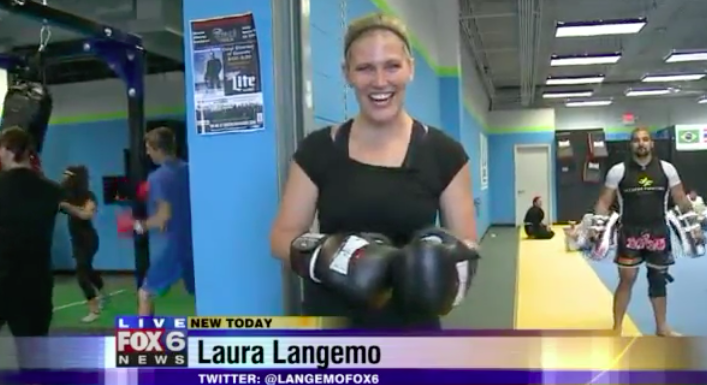 Laura Langemo Of Fox 6 News comes to Nova Gyms Martial Arts & Fitness In Oak Creek