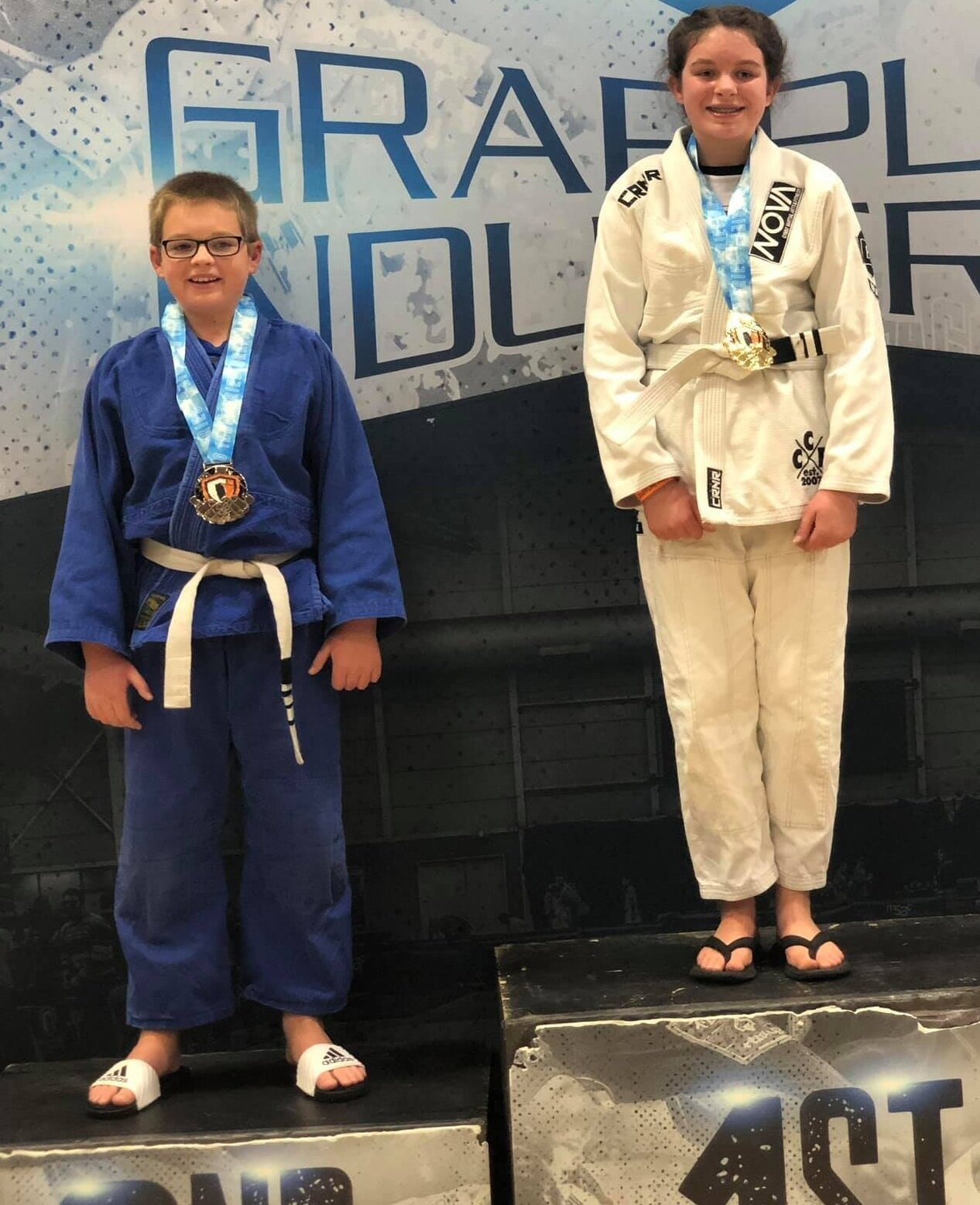 12 Year Old Raina from Nova Gyms Pewaukee wins Gold this BJJ tournament