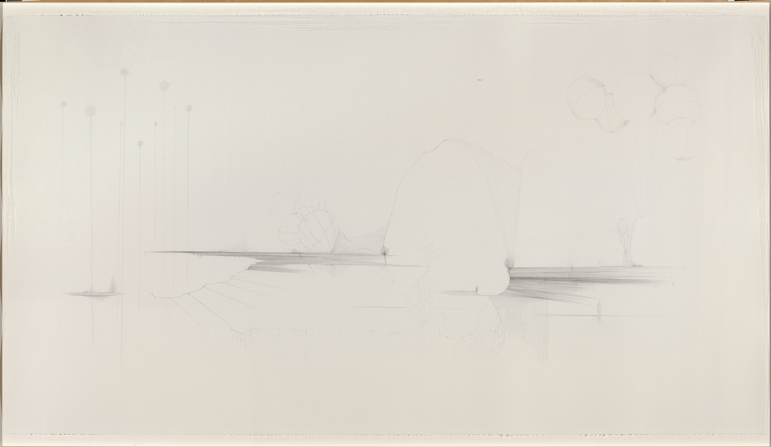 Fissures and Dandelions, 2005-06, 79 in. long