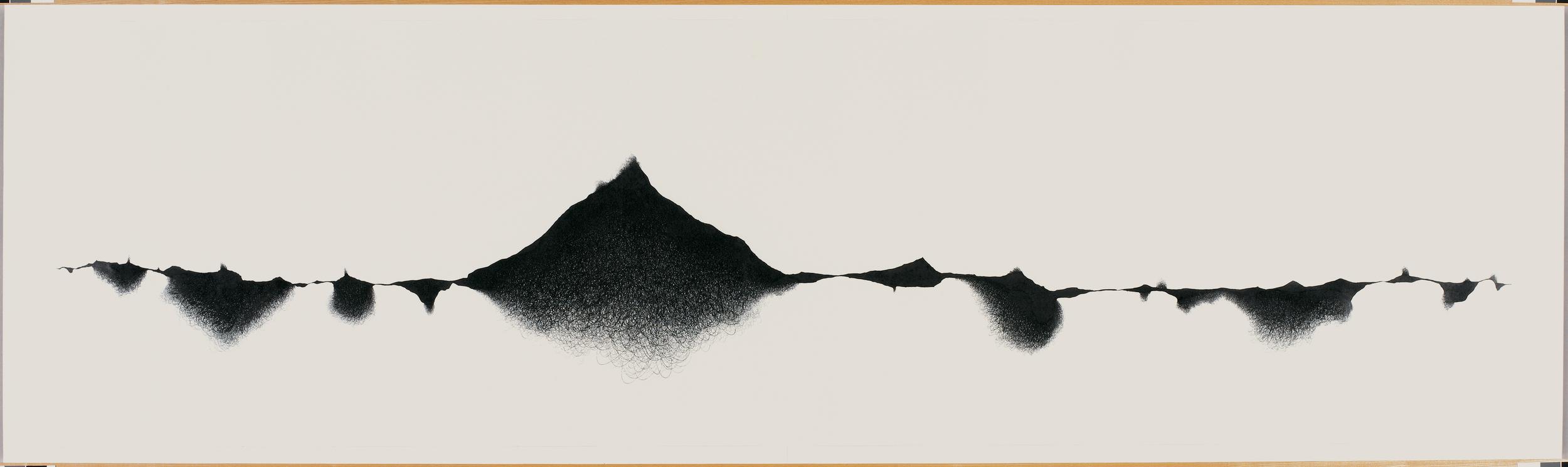 Peaks, 2005-07,35 x 118 in.