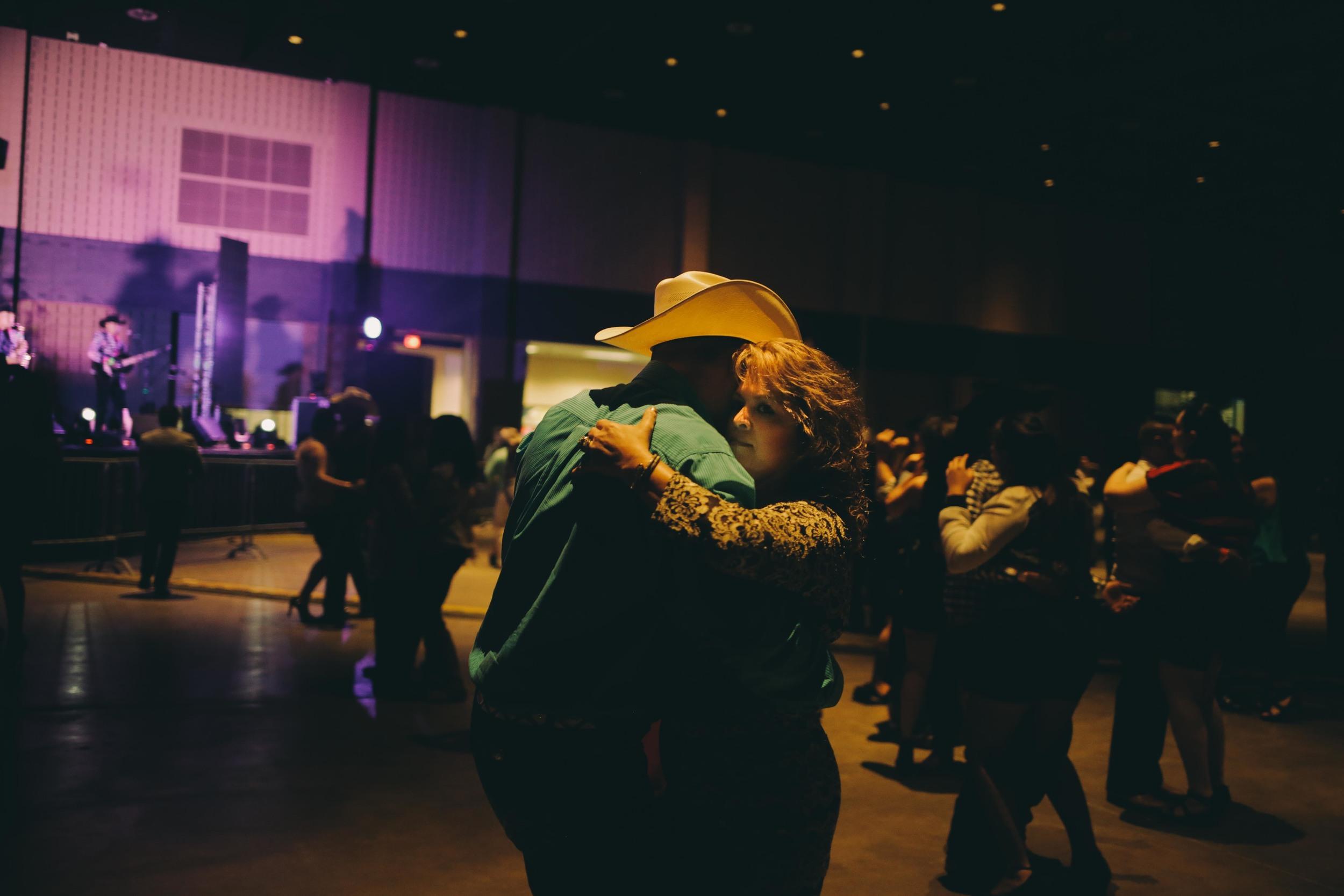 A couple dances in Dalton, Georgia