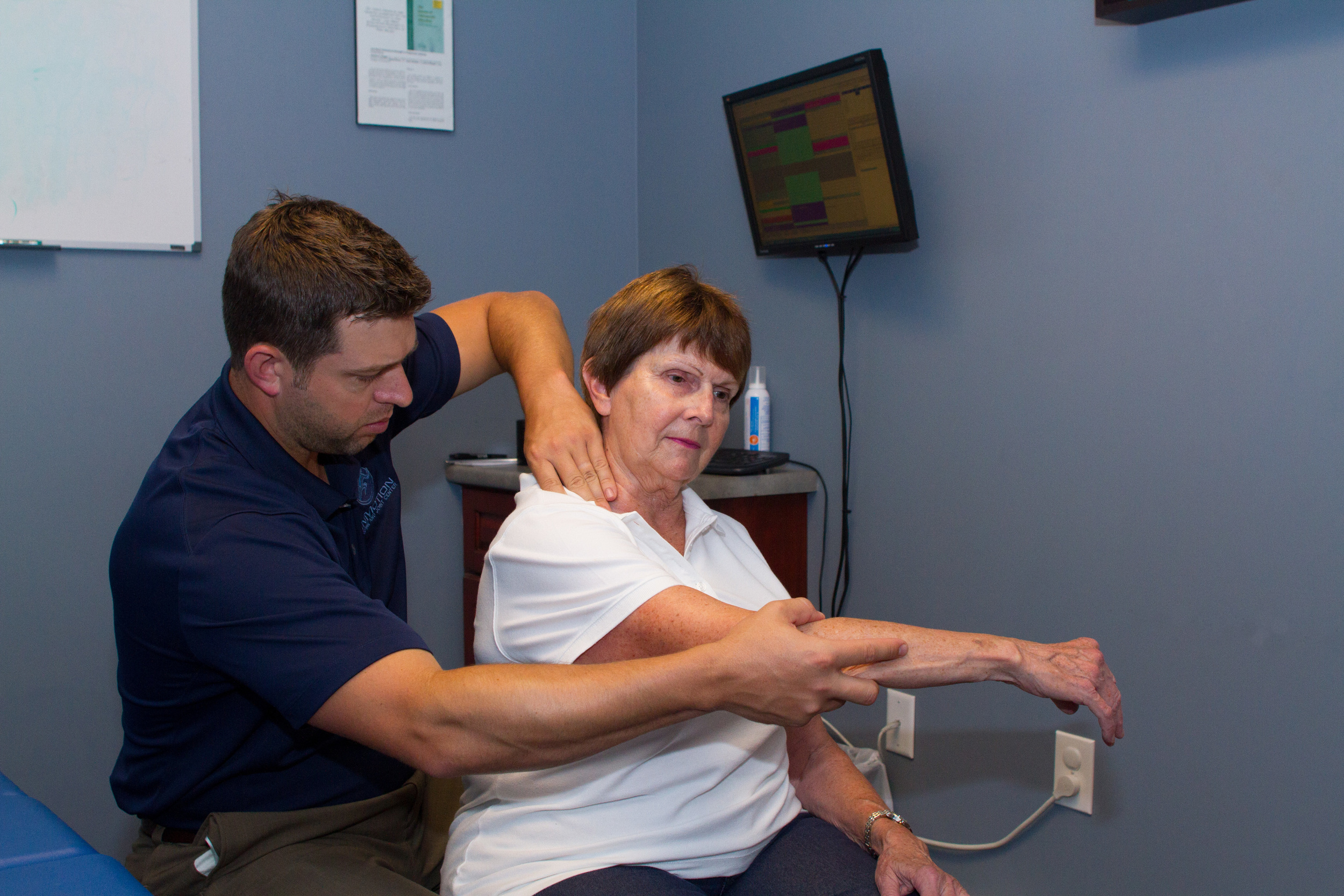 Manual Therapy with Active Patient Movement for shoulder pain