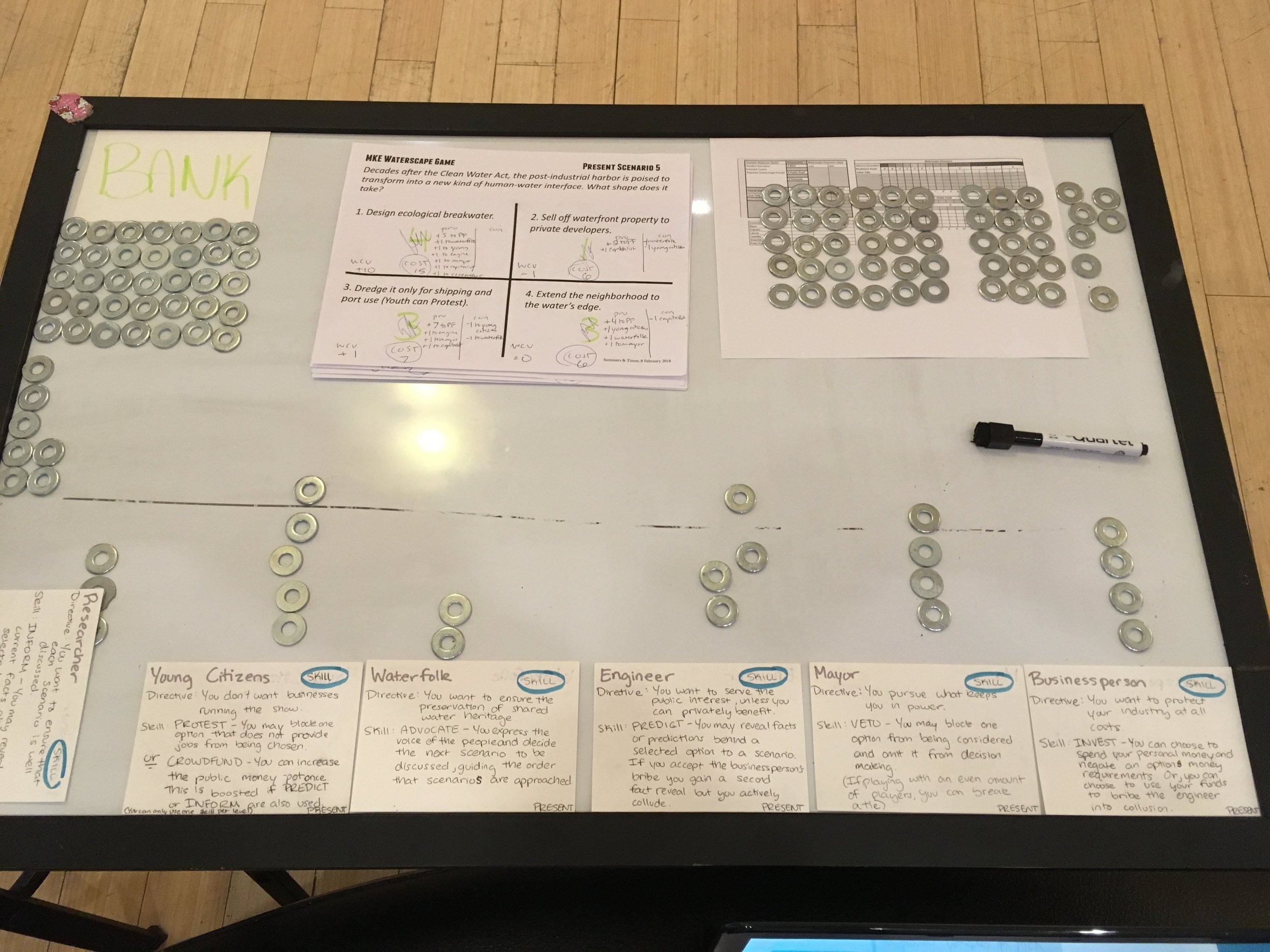 Although we're building a digital game, there's nothing like paper, pencil, and physical objects to work through a prototype. In a few weeks, the paper prototype will be ready for playtesting. Drop us a line if you want to try it out!