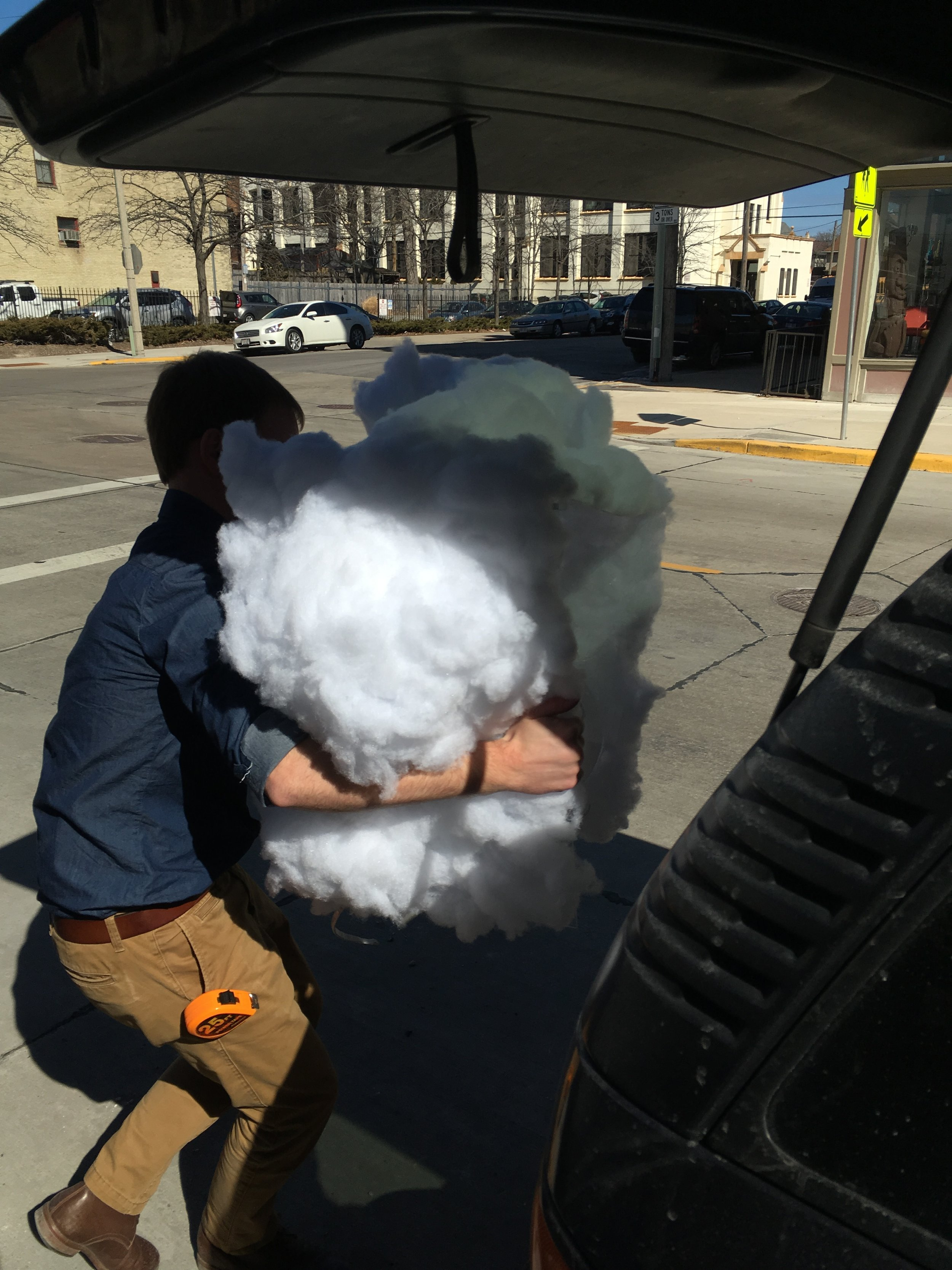 """Our fearless leader, Justin Hegarty, gives new meaning to the phrase """"in the cloud."""""""