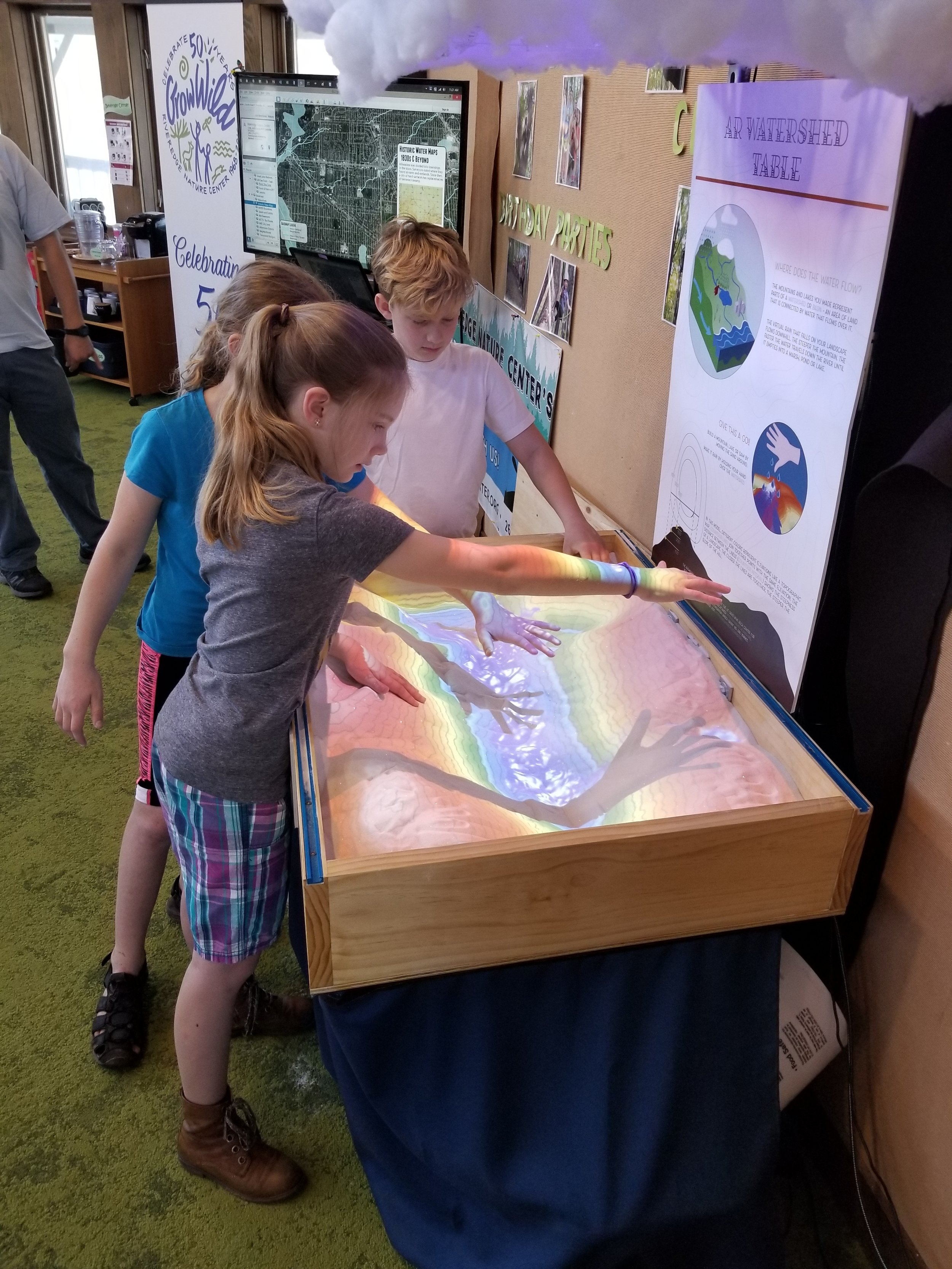 Back in the sandbox again... The AR table unleashes and augments the imagination.