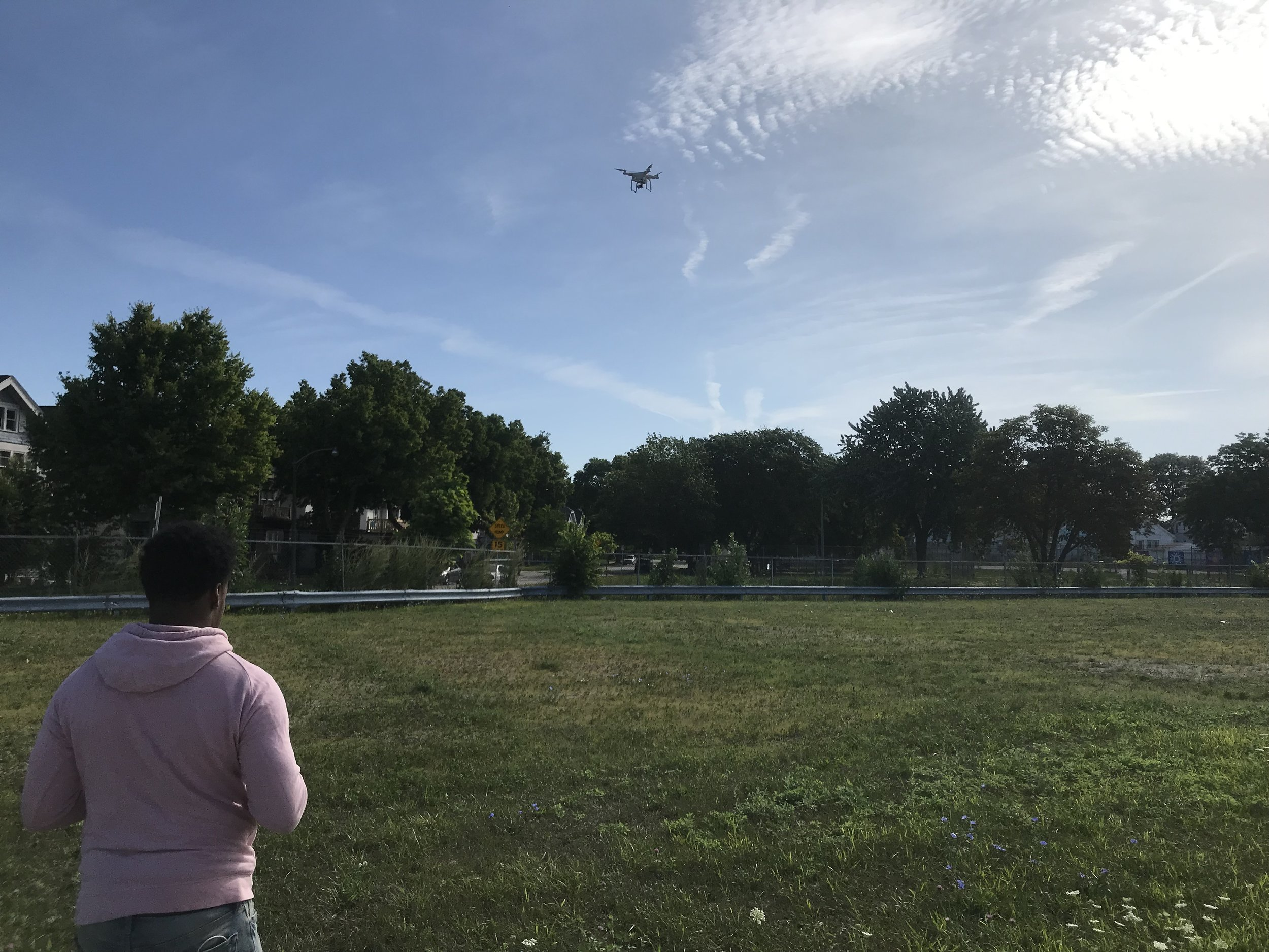 Michael Snowden flies Reflo's drone and photographs Milwaukee sites that could be transformed with green infrastructure.
