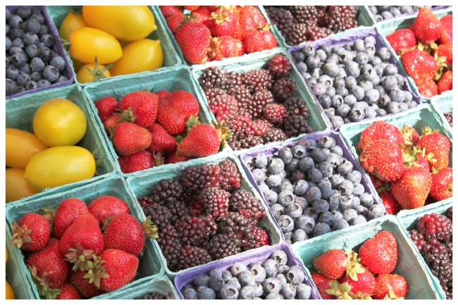 Visit 5 different farmers market since you have so many to choose from