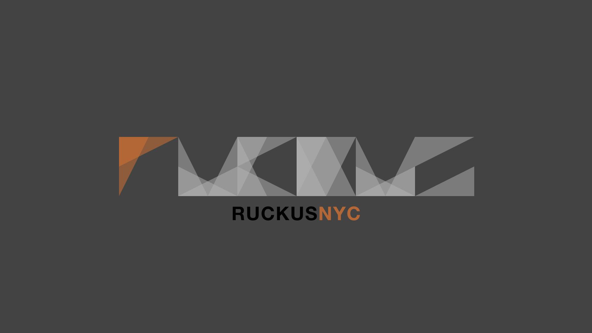 Ruckus Logo on Gray
