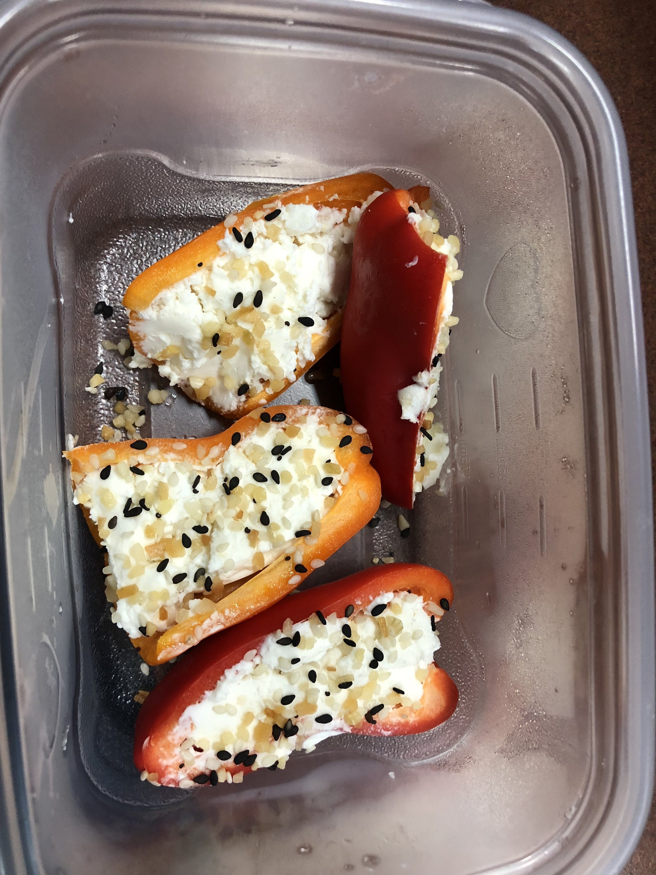 Sweet Peppers & Goat Cheese