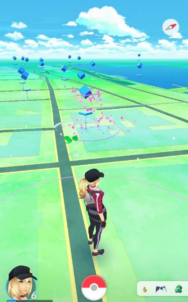A PokéStop with an active lure