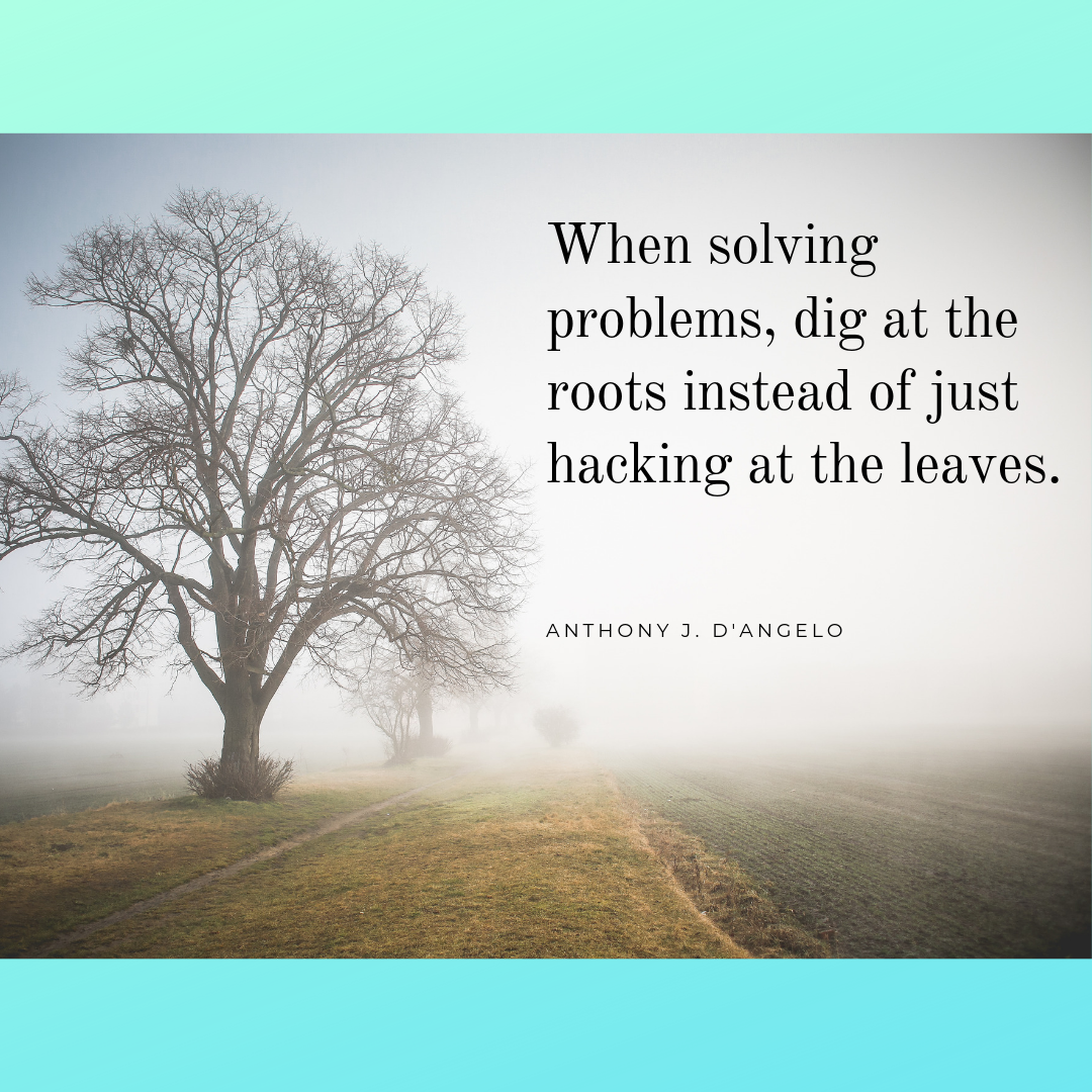 When solving problems, dig at the roots instead of just hacking at the leaves..png