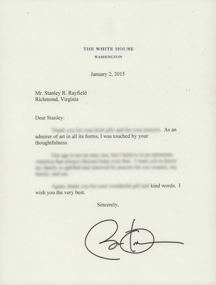 Letter from President Barack Obama